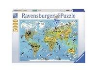 """Пазл """"карта мира с животными"""" (5000 деталей), Ravensburger"""