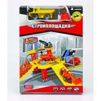 """Игровой набор """"строительная площадка"""", с машиной и пусковой установкой, Технопарк"""