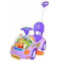 """Каталка с ручкой """"happy"""", фиолетовая, Toysmax"""