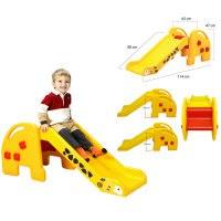 """Горка eduplay """"жираф"""" (114x90x47 см), желто-красно-черная, Edu-Play"""