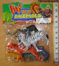 """Набор резиновый """"дикие животные"""" (8 штук), Shenzhen Jingyitian Trade Co., Ltd."""