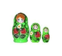 Матрешка 3 в 1 расписная, Русские народные игрушки