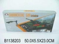 """Конструктор 2 в 1 """"автомат и танк"""", 522 детали, Китай"""