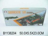 """Конструктор 2 в 1 """"автомат и танк"""", 577 деталей, Китай"""