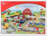 """Конструктор """"умная стройка. пассажирский и грузовой вокзал"""", Play Smart (Joy Toy)"""