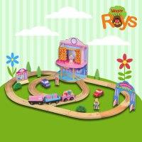 """Деревянный набор """"железная дорога для девочек"""", 80 элементов, Roys"""