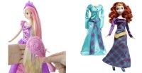 """Набор """"disney принцесса - рапунцель с волшебной расческой и кукла """"disney принцесса - мерида с дополнительным платьем"""", Mattel (Маттел)"""