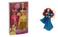 """Набор """"disney принцесса - принцесса и дополнительный наряд magiclip и кукла мерида с аксессуарами deluxe disney princess"""", Mattel (Маттел)"""