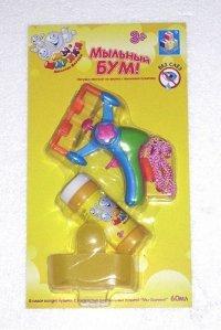 """Мыльные пузыри """"мы-шарики! без слез"""", с пистолетом на шнурке, 1 Toy"""