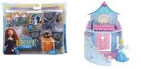 """Набор с фигурками-трансформерами """"disney принцесса - храбрая сердцем """" и набор с мини-куклой """"disney принцесса - замок принцессы, Mattel (Маттел)"""