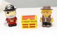 """Набор игрушек для ванны """"буль-буль. пират, мальчик и сундук"""", 1 Toy"""
