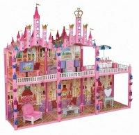 """Замок для кукол с мебелью """"красотка"""", 187 деталей, 1 Toy"""
