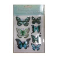 Наклейки бабочки 3d большие, РТО