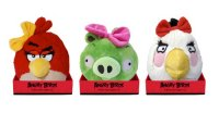 Мягкая игрушка  girls, со звуком, 20 см, Angry Birds