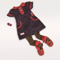 Одежда для куклы 46 см (вельветовое платье, браслет, колготки, носочки, туфли), Battat