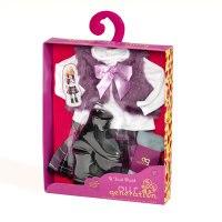Одежда для куклы 46 см (блузка, меховой жилет, юбка в клетку, колготки, сапожки), Battat