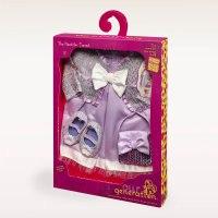 Одежда делюкс для куклы 46 см (атласное платье, кофточка, сумочка, туфли), Battat