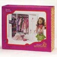 Деревянный гардероб для куклы 46 см, Battat