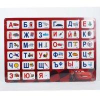 """Деревянная игрушка """"disney. тачки. алфавит, рамка-вкладыш"""", Играем вместе"""