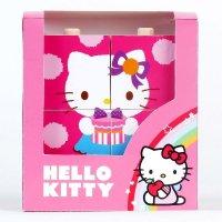 "Деревянная игрушка ""кубики-пирамидки hello kitty"", 6 штук, Играем вместе"