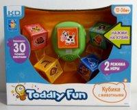 Кубики обучающие с животными (5 штук), Kidz Delight