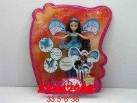 """Кукла """"фея с крыльями"""" (в голубом), 38 см, Zhorya"""