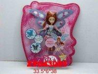 "Кукла ""фея с крыльями"" (в серебристо-розовом), 38 см, Zhorya"
