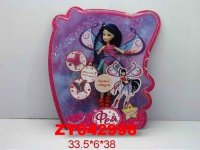 "Кукла ""фея с крыльями"" (в розово-голубом), 38 см, Zhorya"