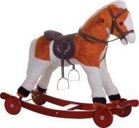 """Качалка-игрушка """"лошадка"""" (рыжий + белый), Leader Kids"""