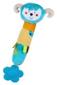 """Развивающая игрушка-погремушка """"обезьянка"""", с пищалкой и прорезывателем, Жирафики"""