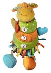 """Развивающая игрушка-пирамидка """"жирафик"""", с погремушкой, прорезывателем и пищалкой, Жирафики"""