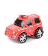"""Машина инерционная """"пожарная охрана"""", (3 штуки), красная, TONGDE"""