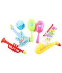 Инструменты музыкальные (труба, гитара, кастаньеты, маракасы, металлофон, саксофон), S+S Toys