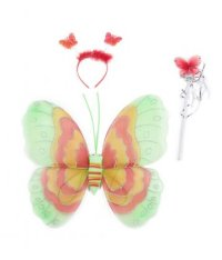 Набор игровой для девочки (крылья бабочки, ободок и волшебная палочка), S+S Toys