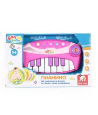 "Пианино ""бамбини"", розовое, S+S Toys"