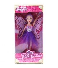 """Кукла """"фея балерина"""", 26 см, крылья белые с розовым, S+S Toys"""