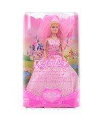 Кукла-принцесса с аксессуарами, 26 см, розовый наряд, Defa