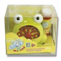 """Мини-машина для мыльных пузырей """"мы-шарики!"""", лягушка, на платформе, 1 Toy"""