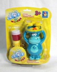 """Мини-машина для мыльных пузырей """"мы-шарики!"""", гиппопотам, 1 Toy"""