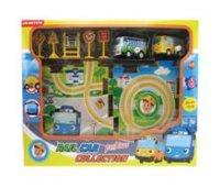 Заводная машинка с треком и со знаками дорожного движения, арт. 6380а, Дрофа-Медиа