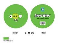"""Мяч """"angry birds - зеленая свинка с улыбкой"""", 15 см, 1 Toy"""