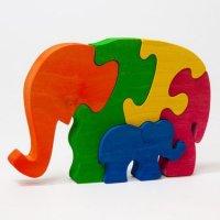 """Деревянный пазл """"два слона"""", Tree tone"""