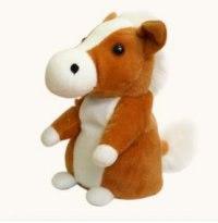 """Интерактивная игрушка-повторюшка """"лошадь"""", коричневая, Woody O'Time"""