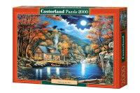 """Пазл """"домик на озере"""", 2000 деталей, Castorland"""