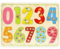 "Деревянная игрушка-вкладыш ""цифры"", Zhejiang yanda toys co., ltd."