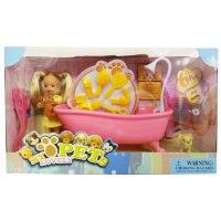 "Набор с куклой и ванной ""мой любимый питомец"", 11.5 см (арт. w0435), Yiwu jia yu imp and exp.Co.Ltd"