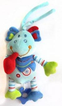 """Развивающая игрушка-подвеска """"динозаврик"""", музыкальная (цвет: голубой), Жирафики"""