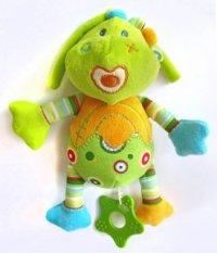"""Развивающая игрушка-подвеска """"динозаврик"""", музыкальная (цвет: зеленый), Жирафики"""