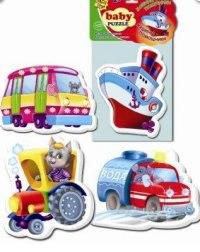 "Пазлы мягкие baby puzzle ""транспорт"", Vladi Toys"