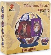 """Шаровый пазл """"мир кошек"""" (540 деталей, 23 см), Pintoo"""